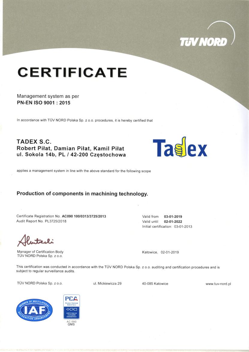 PN-EN ISO 9001:2015 - lang EN